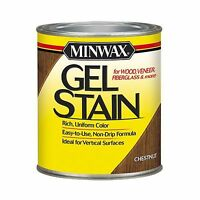 Minwax 260104444 Interior Wood Gel Stain 1/2 Pint Chestnut Free Shipping
