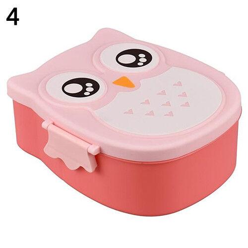 CUTE CARTOON OWL LUNCH BOX FOOD CONTAINER STORAGE PORTABLE KIDS BENTO BOX FADDIS