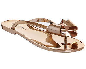 040a234e3 Image is loading Womens-Ted-Baker-Glamaar-Flip-Flop-ROSE-GOLD-