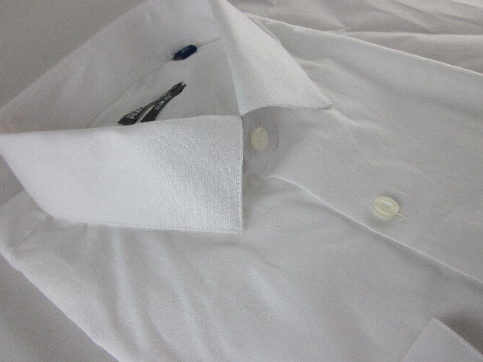 91df1242 NEW COLE REACTION DRESS SHIRT XLarge 34 35 Slim fit White NWT 17.5 KENNETH  nrqzdl5492-Dress Shirts