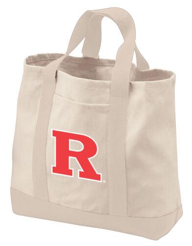 Rutgers University Tote Bags NATURAL COTTON CANVAS RU Bag