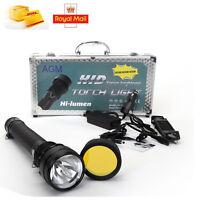 Agm 8500lms 85w/65w/45w Hid Xenon Torch Flashlight Spotlight 8700mah 5modes Uk