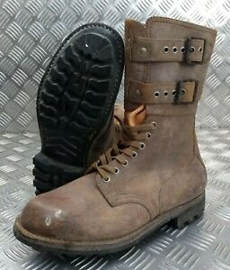 Genuine French Foreign Legion Brown Leather / Suede Army Boots Size 41 NEW FB005