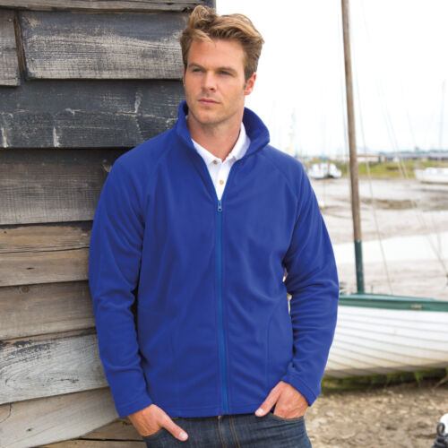 Result Mens Core Micro Fleece Full Zip Jacket Quick Dry Breathable