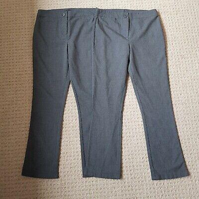 Debenhams Kids Pack of Two Girls Navy Slim Fit School Trousers