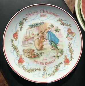 Wedgwood-Merry-Christmas-1998-Collector-Plate-8-Inch-Peter-Rabbit