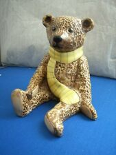 BENJAMIN FROM THE TEDDY BEAR COLLECTION YELLOW SCARF by JOHN BESWICK UK MADE