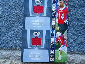 Cedric Houston & Carlos Rodgers Jersey Cards