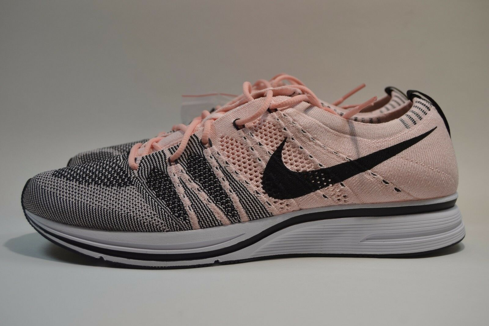 New Mens Nike Flyknit Trainer Sunset Tint Black Pink Beach AH8396-600