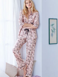 bfed29347a655 Details about New VICTORIA'S SECRET Winter Pink CHRISTMAS Gift Dreamer  Flannel Pajama M