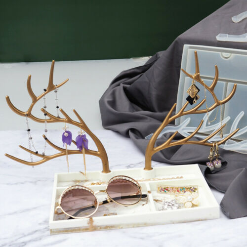 Tree Branch Jewelry Display Stand Silicone Mould Casting Molds Resin Tray Mold