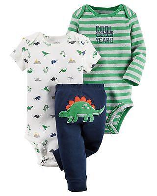 Dinosaur on Gray NWT Carter/'s Infant Boys Little Sweater /& Knit Pant Set