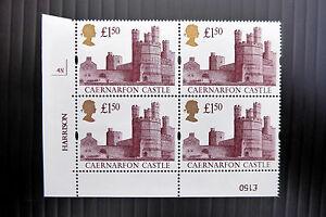 GB 1994 £1.50 Gold Head Castle Cyl Block of 4 (4N) U/M SALE PRICE FP3155