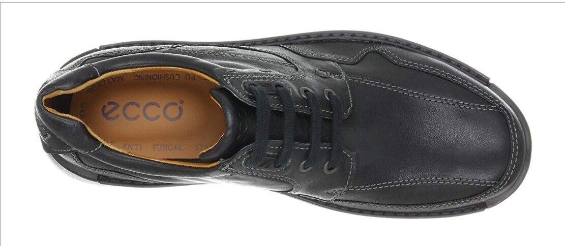 ECCO Para Hombre Zapato Derby 12 Negro Corbata Fusion Cuero Elegante & Súper cómoda