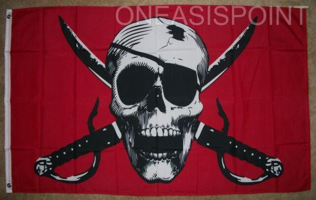 3X5 Jolly Roger Pirate Calico Jack Rackham Flag 3/'x5/' Banner USA SELLER