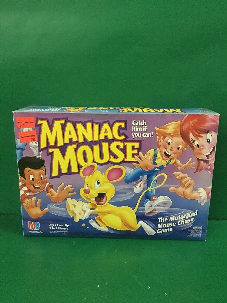 Maniac Mouse The Motorized Mouse Chase Game 1993 NIB By MB
