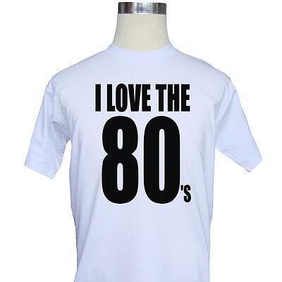 I Love The 80s Eighties Retro Mens T-Shirt