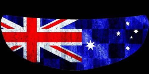SKULLSKINS MOTORCYCLE HELMET VISOR SHIELD STICKER AUSTRALIAN FLAG