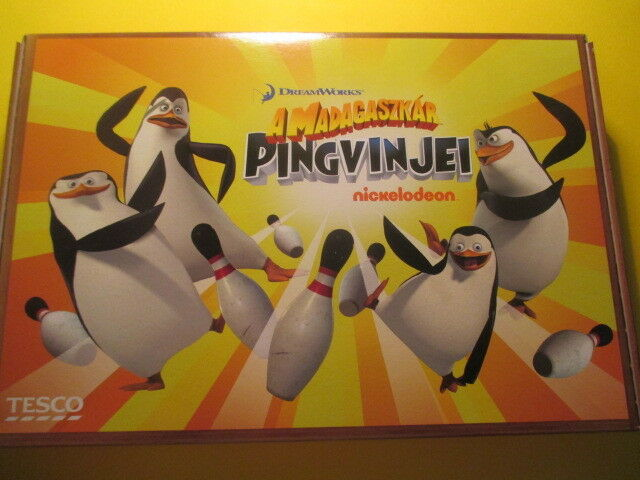 Penguins of Madagascar Complete Bowling Game with original matrices - Hungarian