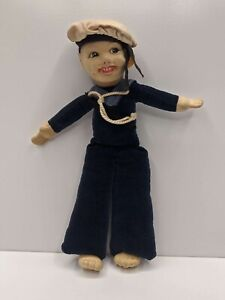 Antique-Nora-Wellings-Jolly-Boy-Sailor-Doll-1920-1930-039-s-Felt-Attire-Collectable