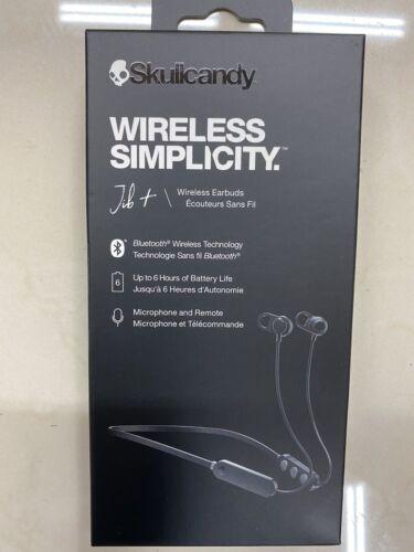 New Skullcandy Wireless Simplicity Black Earbuds Microphone//Remote Headphones