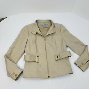 Antonio-Melani-Women-039-s-Long-Sleeve-Jacket-With-Belt-Size-8