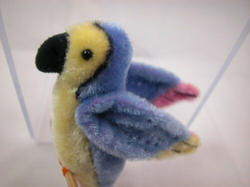 "World of Miniature Bears 3.5/"" Plush Animal Blue Macaw #775 Collectible Macaw"