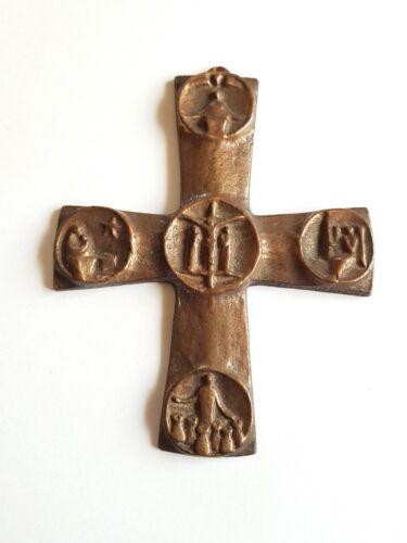 Bronze Plastik Kreuz Anhänger