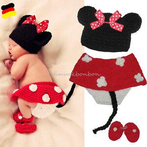 Foto-Shooting-Neugeborene-Baby-Kostuem-Tier-Minnie-Mouse