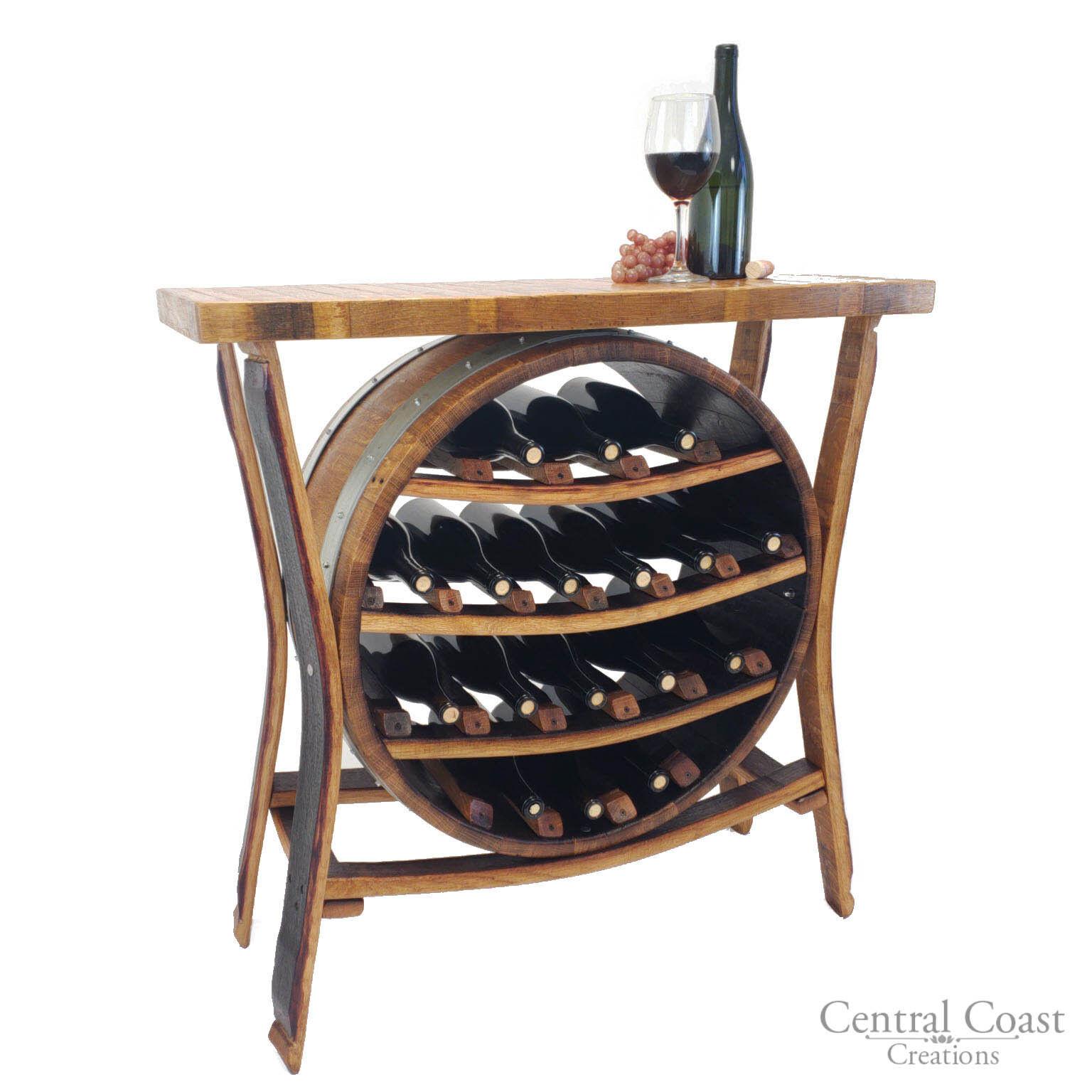 17 bouteille tonneau de vin Casier à vin Porte-Rustique Meuble fait main livraison gratuite