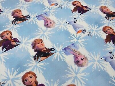 Fabric Cotton Jersey with Disney Ice Queen Frozen Anna Elsa Olaf Kristoff Design Purple White Colorful Children/'s Fabric Dress Fabric License fabric