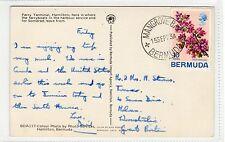 FERRY TERMINAL, HAMILTON: Bermuda postcard with MANGROVE BAY postmark (C23367)