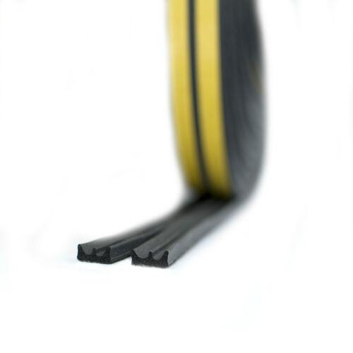 BLACK Draught Excluder Self Adhesive Rubber Door Window Seal Strip Roll Foam