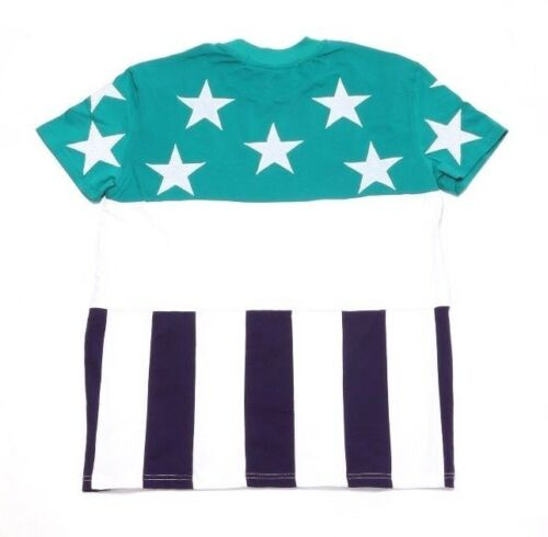 MSRP $98 HUDSON NO COUNTRY FLAG TEE 5421NC-TUR TURQUOISE