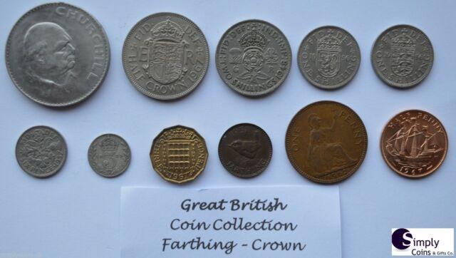 COIN COLLECTION PRE-DECIMAL COINS