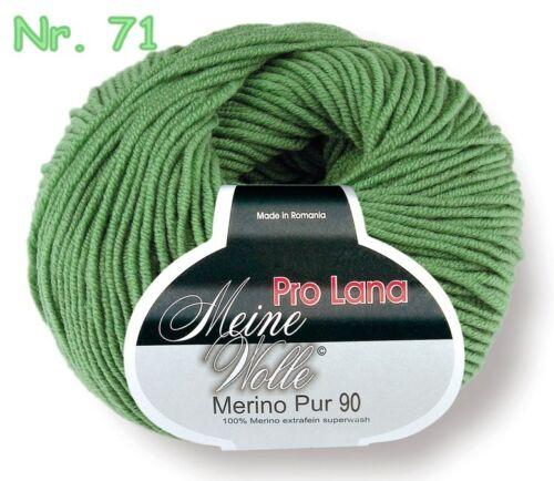 50 g PRO LANA Merino Pur 90 extrafein 100g//9,00€ Wolle 1270