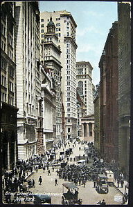 Details about New York City NY ~ 1900's BROAD STREET SHOWING CURB BROKERS ~  OLD WALL STREET
