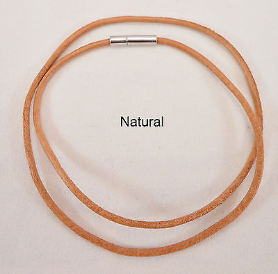 Leather Cord Surfer Choker Necklace 2mm with Bayonet Clasp - Unisex