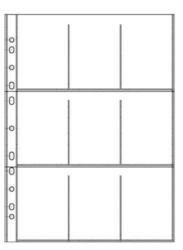 120my GLASKLAR 10 x Sammelhülle A4 mit 9 Taschen Sammelhüllen Prospekthüllen