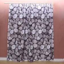 Oval Rocks Pebbles Stone Cobble Design Bathroom Waterproof Fabric Shower Curtain