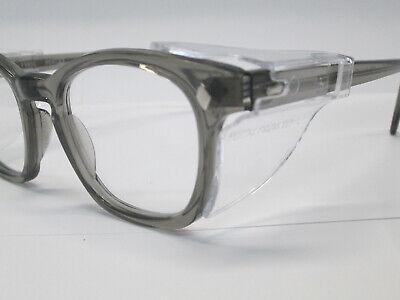 Eyeglasses 60s Style Horn Rim Hipster Custom Blue Clear AO Glass 50 Hoya Large