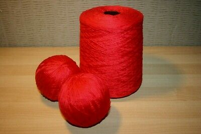 2 Ply Cotton Yarn - Knitting / Crochet - Red - Job Lot (ref1)