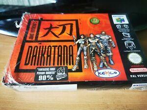 Daikatana para el Nintendo 64 en caja y COMPLETO PAL EUR N64 Sellado En Caja