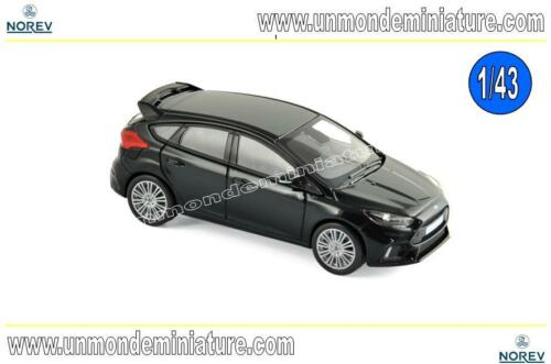 NO 270565 Ford Focus RS 2016 Black  NOREV Echelle 1//43
