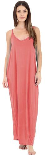 Womens Cami Strappy Lagenlook Italian Drape Dress Baggy Summer Maxi Dress 8-26