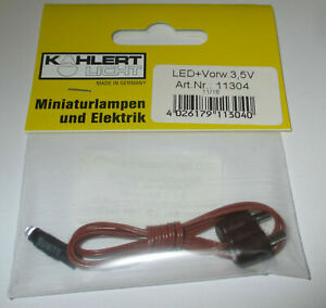 Kahlert-LED-3mm-White-With-Cable-And-Plug-3-5-Volt-New-Orig-Packaging