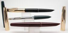 Lot of 6 Hero 332 Gold Cap Fountain Pen Iridium Nib Model Black Green Maroon Col