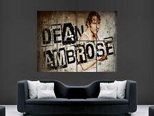 WWE DEAN AMBROSE  WRESTLING USA SPORT WALL POSTER ART PICTURE PRINT LARGE  HUGE