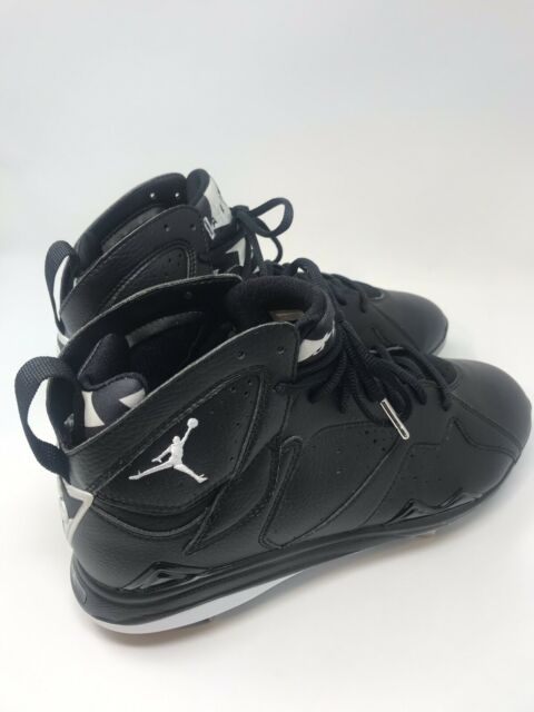 cheap for discount f1882 b0759 Nike Air Jordan 7 Retro Metal Baseball Cleats Black/White Oreo Men's Size 10