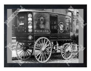 Historic-Heinz-wagon-1900s-Advertising-Postcard